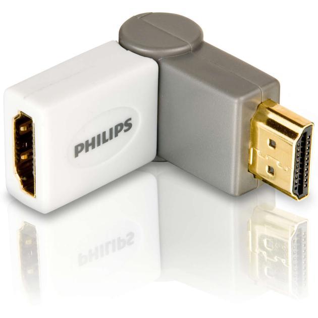 Переходник HDMI (угол) Philips SWV3460S/10 адаптер (складной, разворот на 180 градусов), серия 500