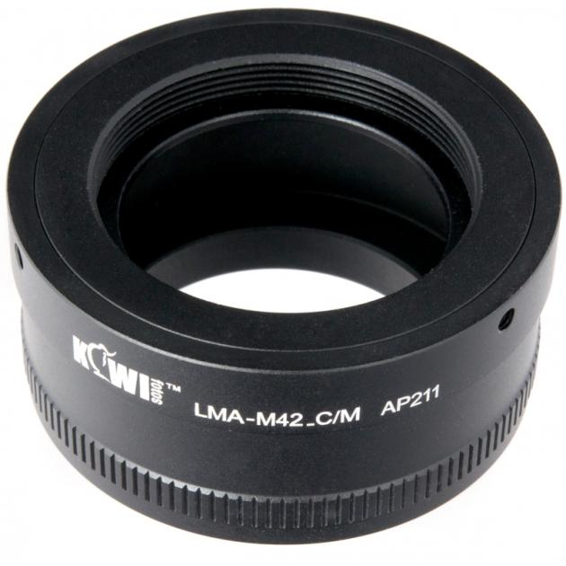Переходное кольцо  KIWIFOTOS LMA-M42_C/M (M42-Canon EF-M)
