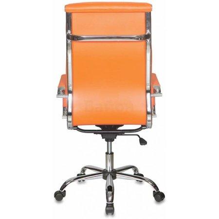 Кресло руководителя Бюрократ CH-993/orange оранжевый искусственная кожа крестовина хромированная