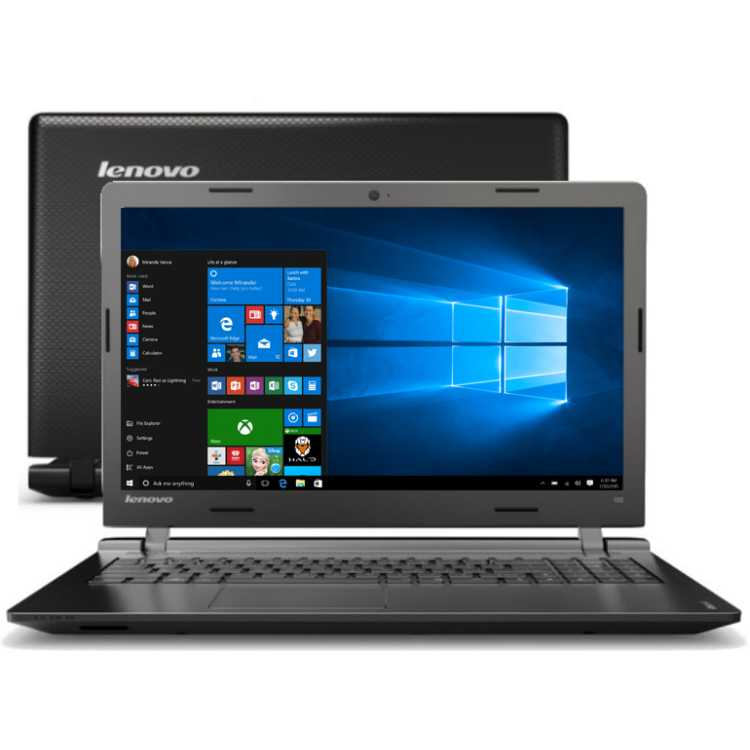 "Lenovo IdeaPad 100-15IBY 80MJ00DTRK 15.6"", Intel Celeron, 2160МГц, 2Гб RAM, DVD нет, 250Гб, Wi-Fi, Windows 10, Bluetooth"