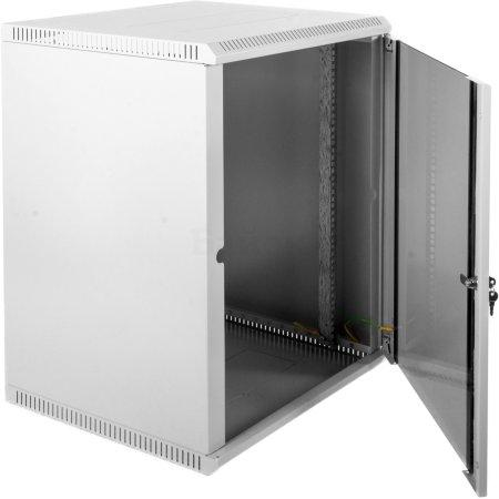 ЦМО Шкаф телекоммуникационный настенный разборный 12U (600х650) дверь стекло, [ШРН-Э-12.650]