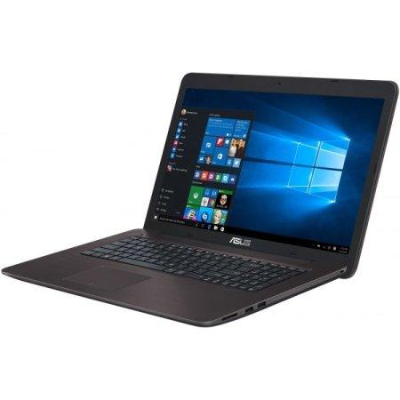 "Asus X756UV-TY077T 17.3"", Intel Core i3, 2300МГц, 4Гб RAM, DVD-RW, 500Гб, Коричневый, Wi-Fi, Windows 10, Bluetooth"