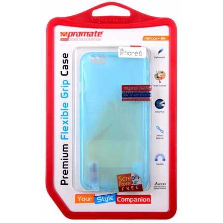 Promate Akton-i6 для iPhone 6 накладка, пластик, Синий