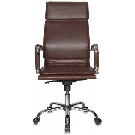Кресло руководителя Бюрократ CH-993/brown коричневый искусственная кожа крестовина хромированная