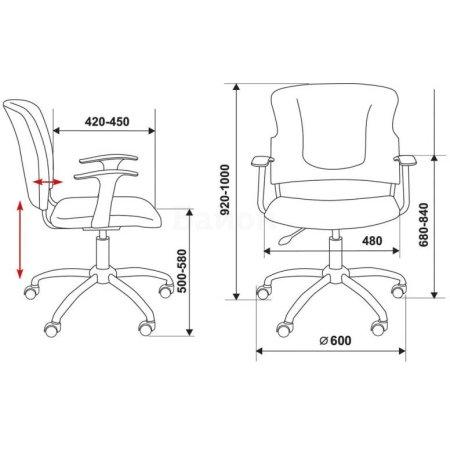 Кресло Бюрократ CH-H323AXSN/B спинка динамичная поддержка черный 26-28 крестовина хром