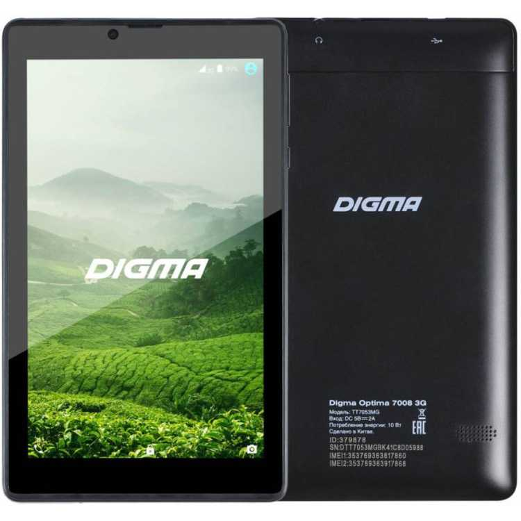 Digma Optima 7008 3G Wi-Fi и 3G, Wi-Fi