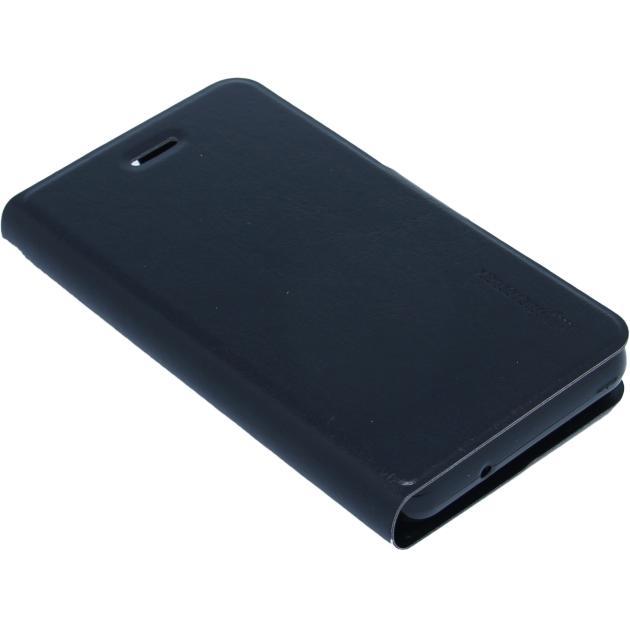 Чехол-книжка для Micromax Q326 полиуретан, Черный