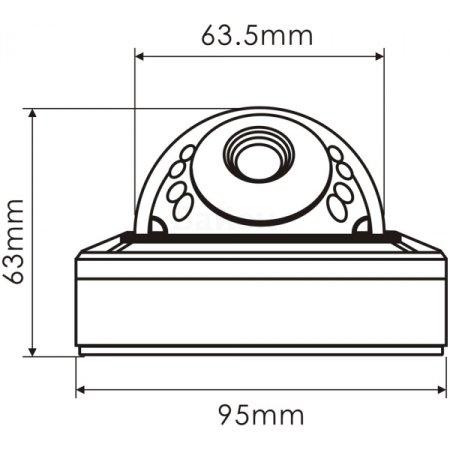ActiveCam AC-D3101IR1 2.8 мм Купольная конструкция, 1280x720