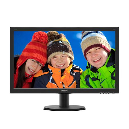 "Philips 240V5QDAB/00 23.8"", Черный, DVI, HDMI, Full HD"