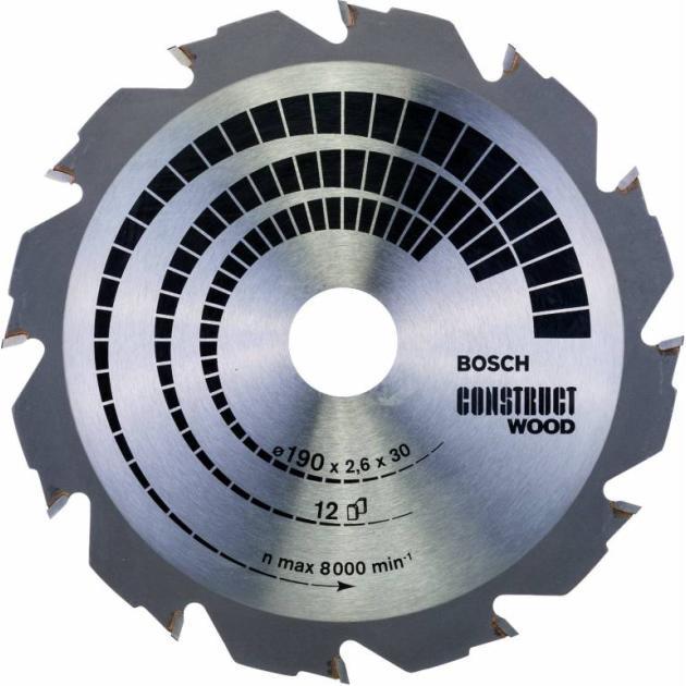 Пильный диск по дереву Bosch 2608640633 d=190мм d(посад.)=30мм (циркулярные пилы) от Байон