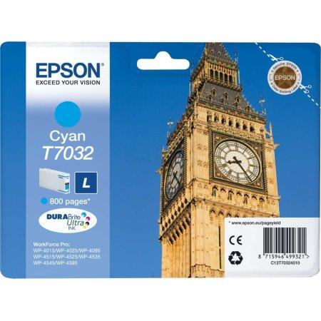 Epson C13T70324010 Голубой, Картридж струйный, Стандартная, нет