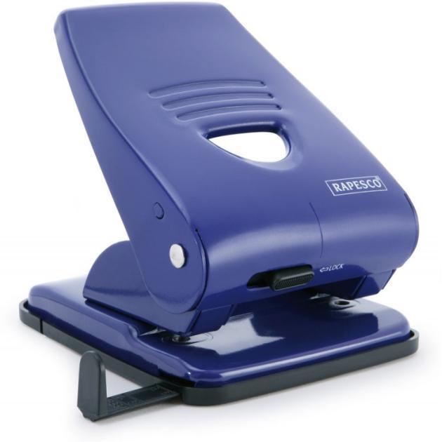 Дырокол Rapesco PF800AL1 макс.:40лист. металл/пластик синий