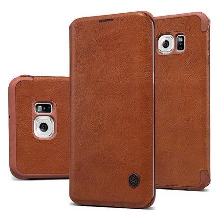Nillkin Qin для Samsung Galaxy S6 чехол-книжка, кожа, Коричневый