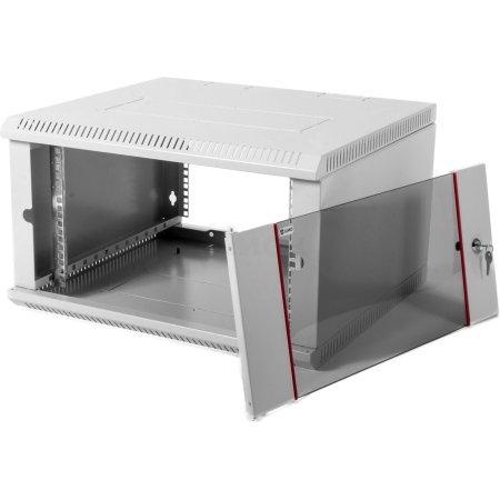 ЦМО Шкаф телекоммуникационный настенный разборный 9U (600х520) дверь стекло, [ ШРН-Э-9.500 ]