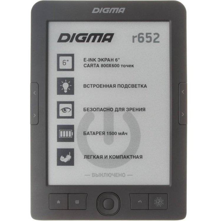"""Digma r652 E-Ink, 6"""", Встроенная подсветка"""