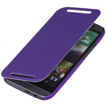 Promate Tama-M8 чехол-книжка, кожа, Пурпурный