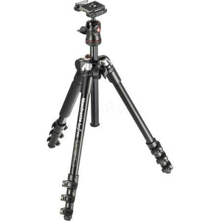 Manfrotto MKBFRA4-BH Черный, Для фотокамер, Трипод - напольный (тренога)