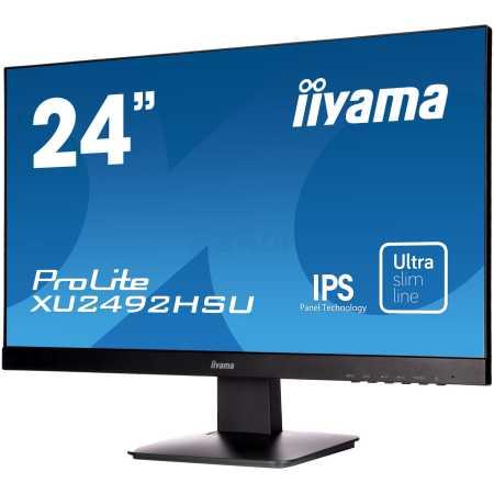 """Iiyama ProLite XU2492HSU-B1 23.8"""", Черный, TFT-IPS, 1920x1080, Full HD, HDMI, DVI"""