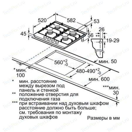 Siemens EC6A6PB90R Черный, Газовая, Эмаль