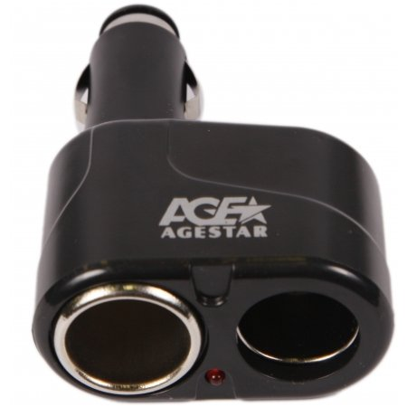 Разветвитель автоприкуривателя Agestar AS-216 (2 прикуривателя)