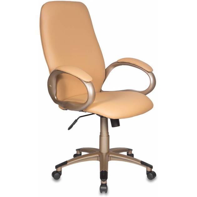 Кресло руководителя Бюрократ T-700Y/OR-13 бежевый Or-13 искусственная кожа пластик золото