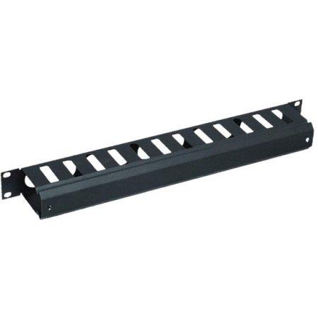 """19"""" кабельный органайзер с крышкой, 2U, черный"""