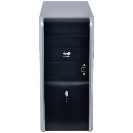 IN WIN Midi Tower InWin EAR007 Black/Silver 450W 2*USB 3.0+Audio ATX черно-серебристый