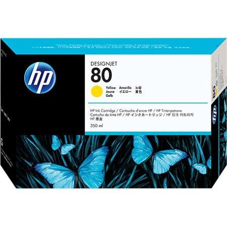 HP 80 Желный, Картридж струйный, Стандартная, нет