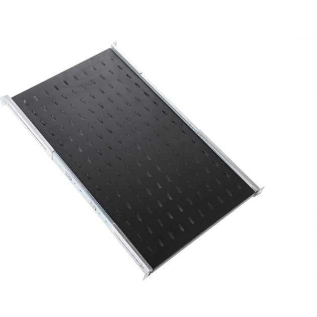 ЦМО Полка перфорированная выдвижная с телескопическими направляющими, глубина 1000 мм, черный