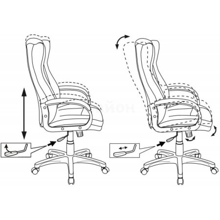 Кресло руководителя Бюрократ CH-879DG/F-C кофейный пластик темно-серый
