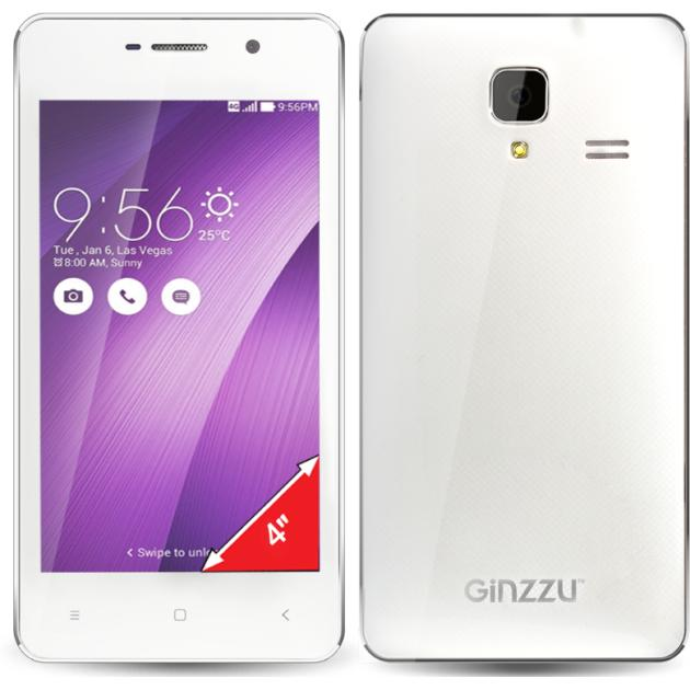 Ginzzu S4010 White 4Гб, Белый, Dual SIM, 3G