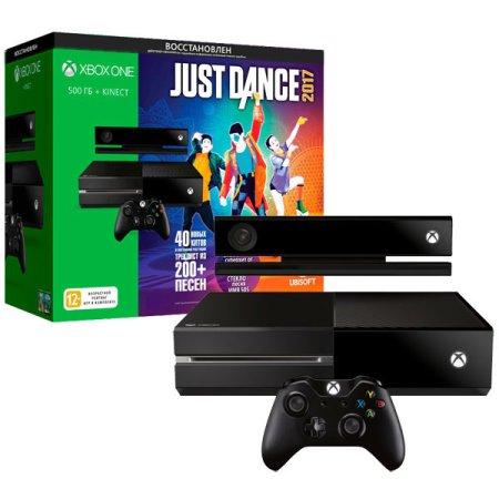 Xbox One Восстановленная 500 Гб Kinect + Just Dance 2017