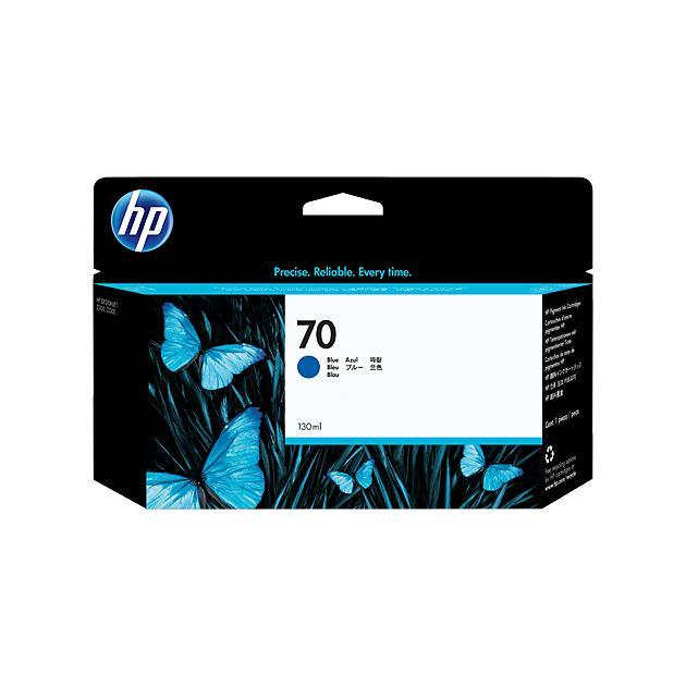 HP 70 Синий, Картридж струйный, Стандартная, нет