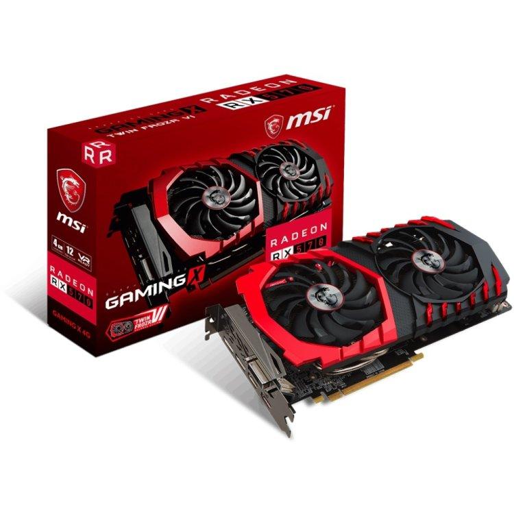 MSI Radeon RX 570 GAMING X 4G 4000Мб, GDDR5, PCI-E 16x