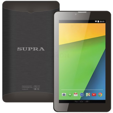 Supra M72DG Wi-Fi и 3G, Черный, Wi-Fi, 8Гб