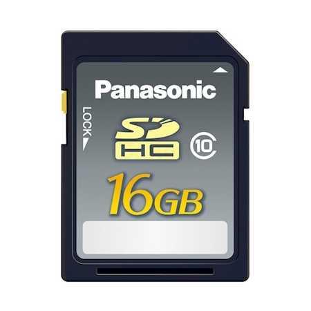 Panasonic SDHC 16GB 20MB/s, Class 10 RP-SDRB16GAK SDHC, Class 10, 16Гб