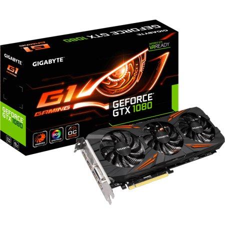 Gigabyte GeForce GTX 1080 G1 Gaming 8G 8192Мб, GDDR5, 1721MHz, GV-N1080G1GAMING-8GD GTX 1080 G1 Gaming 8G - 8192Мб, GDDR5, 1721MHz, GV-N1080G1GAMING-8GD