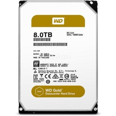 """Western Digital WD8002FRYZ 8000Гб, 600, 3.5"""" HDD"""