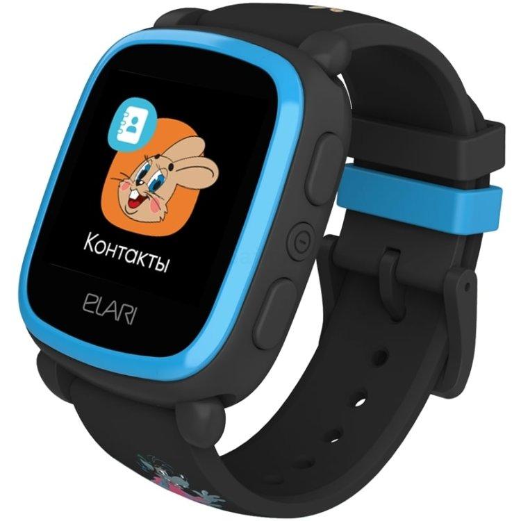 """Детские часы Elari KidPhone """"Ну, погоди!"""" Черные"""