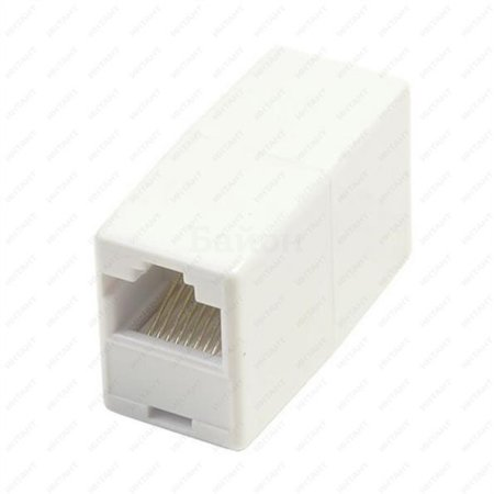 Проходной адаптер кат.5E UTP, тип RJ45-RJ45 (8P8C), белый