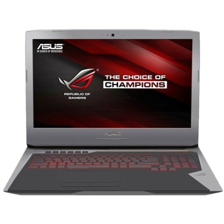 "Asus ROG G752VT 17.3"", Intel Core i7, 2600МГц, 24576 Мб RAM, DVD-RW, 2Тб, Серый, Wi-Fi, Windows 10, Bluetooth"
