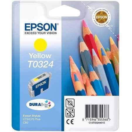Epson C13T03244010 Картридж струйный, Желтый, Стандартная, нет
