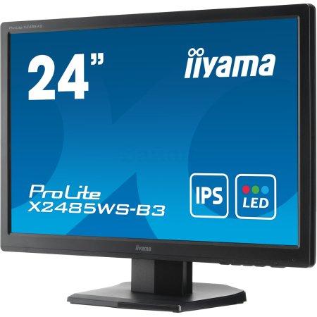 "Iiyama XB2485WS-B3 24.1"", Черный, DVI, Full HD"