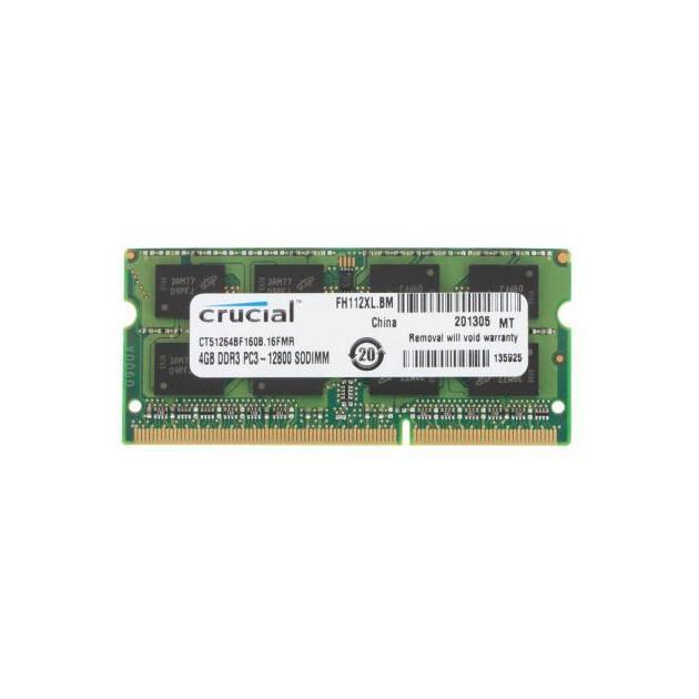 Crucial CT51264BF160B DDR3, 4Гб, PC3-12800, 1600, SO-DIMM