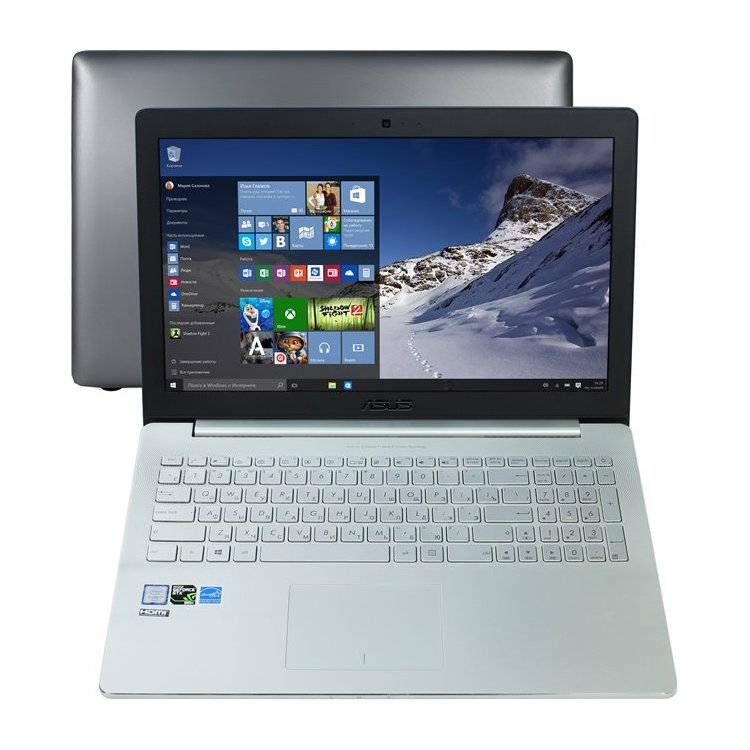 "Asus Zenbook Pro UX501VW 15.6"", Intel Core i7, 2600МГц, 16Гб RAM, DVD нет, 512Гб, Wi-Fi, Windows 10 Pro, Bluetooth"