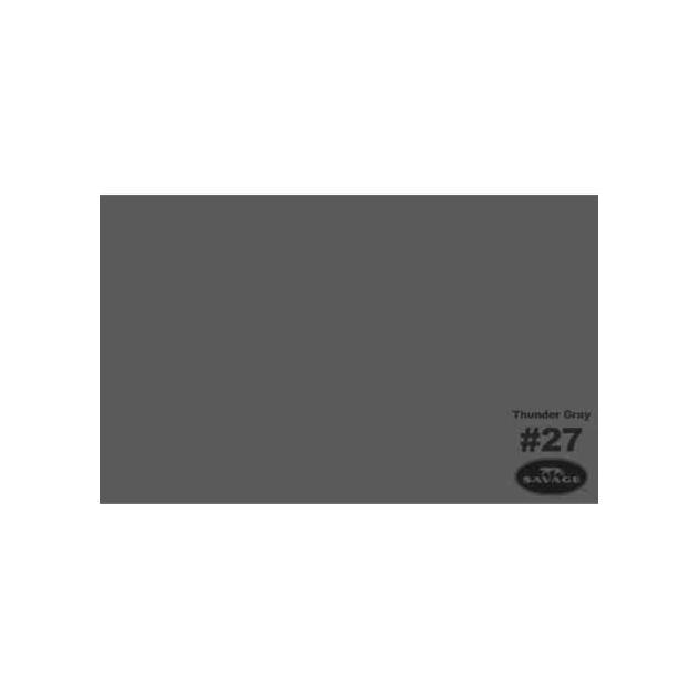"""Фон бумажный Savage 27-1253 WIDETONE THUNDER GRAY цвет """"Серый Гром"""" RGB 90-93-90, 1,35 х 11 метров"""
