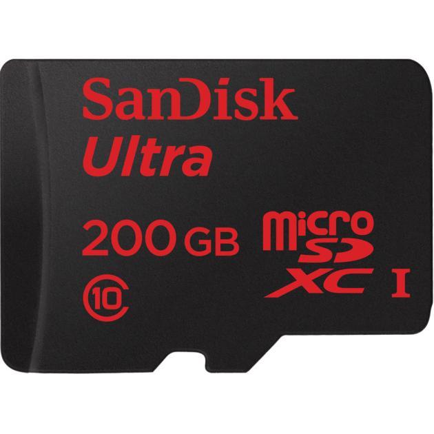 SanDisk Mobile Ultra + SD Adapter microSDXC, 200Гб