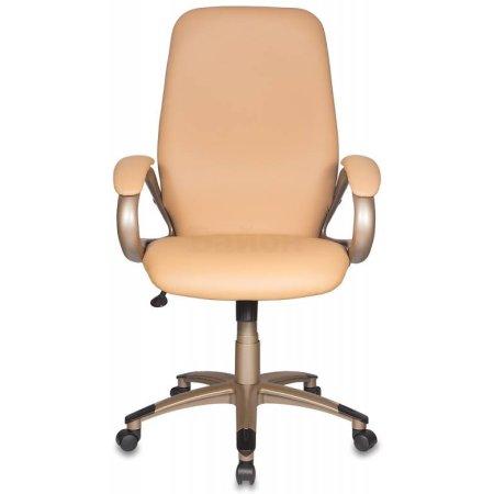 Кресло руководителя Бюрократ T-700Y/OR-13 бежевый Or-13 искусственная кожа (пластик золото)