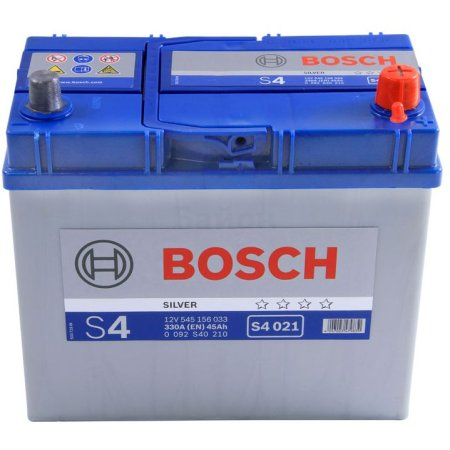 Аккумулятор BOSCH S4 021 Silver 545 156 033, 45е Ач