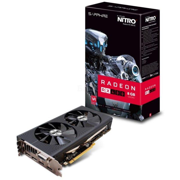 Sapphire NITRO+ RX480 PCI-E 3.0, 8192Мб